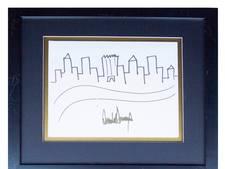 Te koop: schets gemaakt door Donald Trump