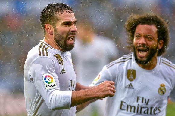 Carvajal viert zijn treffer met Marcelo.