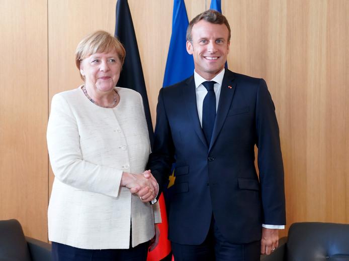 Angela Merkel et Emmanuel Macron au sommet européen du 20 June 2019.