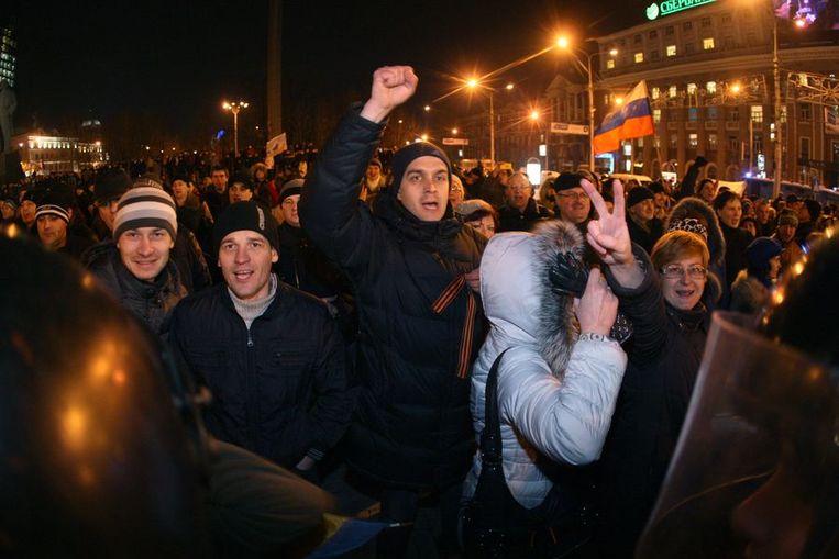 Donetsk gisteravond. Beeld afp