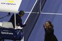 Serena Williams in discussie met Carlos Ramos.