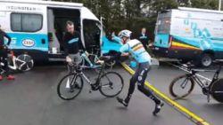 """Wisselt Dumoulin van fiets of niet? Belgen doen het wél. Tony Martin niet blij: """"Ben heel erg teleurgesteld"""""""