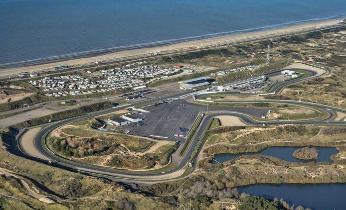 Een luchtopname van Circuit Zandvoort.
