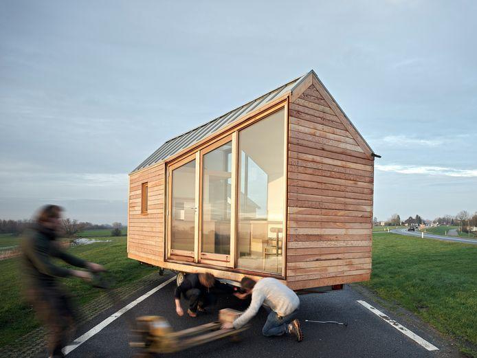 Een voorbeeld van een tiny house.