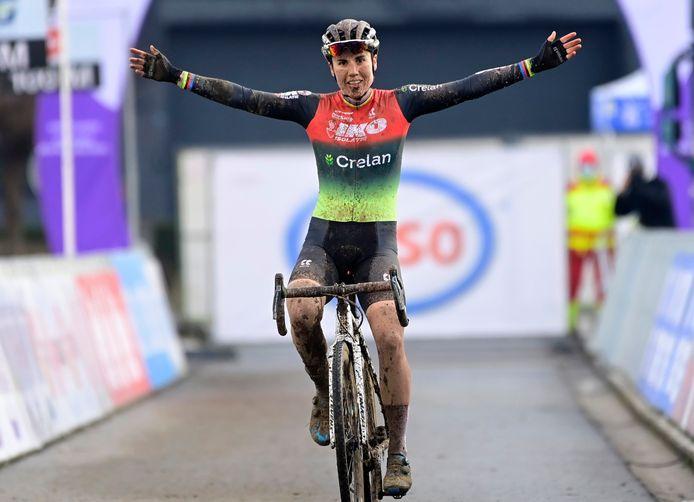 Sanne Cant werd al voor de twaalfde keer op rij Belgisch kampioen.
