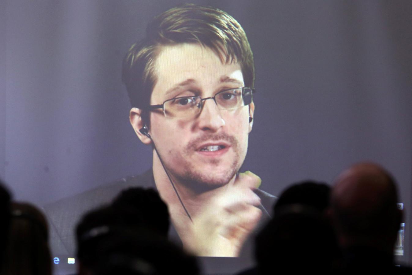 Edward Snowden, die in 2013 het spionageschandaal van de NSA onthulde.