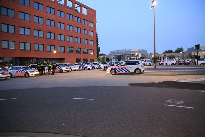 Grote politiemacht op de been in Helmond