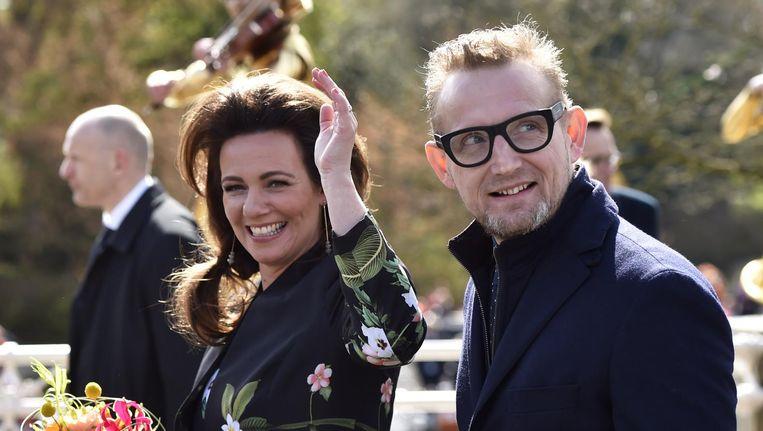 Prins Bernhard jr. en prinses Annette tijdens Koningsdag in Zwolle Beeld null