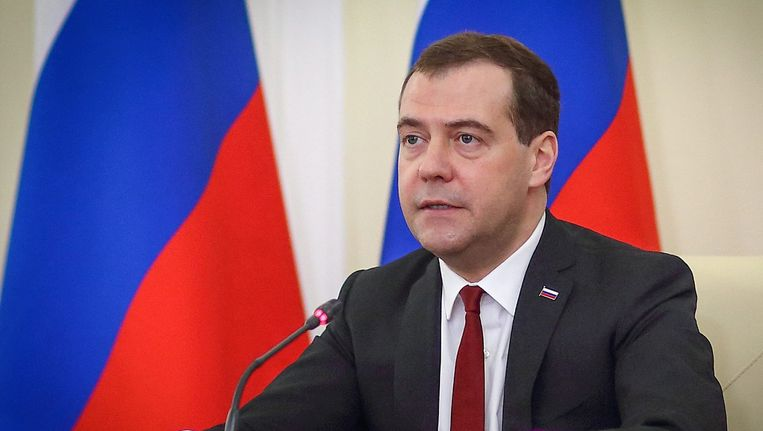 De Russische premier Dimitri Medvedev.