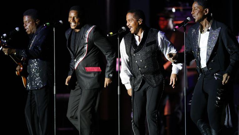 The Jacksons tijdens het Monte Carlo Summer Festival in 2014 Beeld ANP