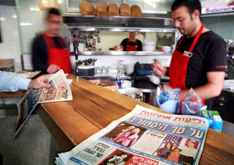 Na advertenties in Israëlische kranten volgt wellicht een campagne in Amerikaanse en Britse media. Foto EPA Beeld