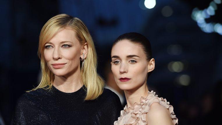 Cate Blanchett en Rooney Mara op de première van Carol in Londen Beeld epa