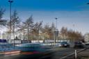 De Mansholtlaan, de noordelijke entree van Wageningen.
