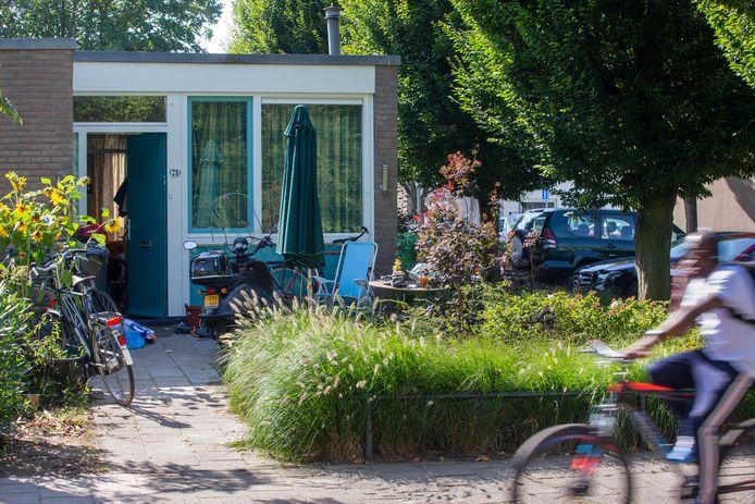 Een studentenhuis in een woonwijk in Wageningen