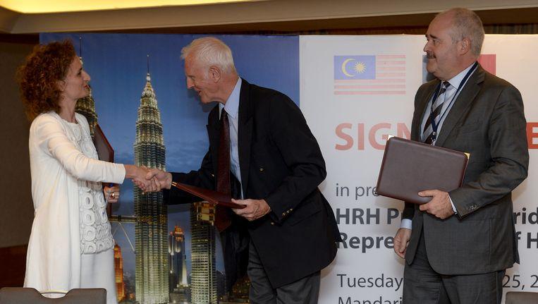Johann Leten (rechts), hier op handelsmissie in Maleisië en Singapore.