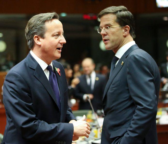 De Britse premier David Cameron en de Nederlandse premier Mark Rutte zitten in hetzelfde schuitje: een hoge naheffing voor hun landen