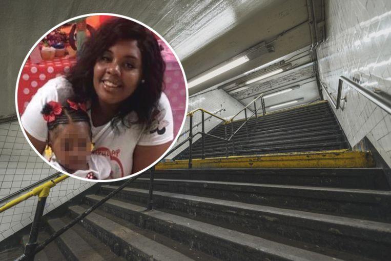 Malaysia Goodson (22) en haar dochtertje Rhylee (1).