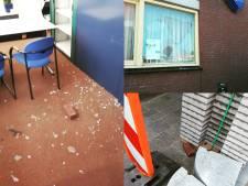 Baksteen door ruit politiebureau Oisterwijk