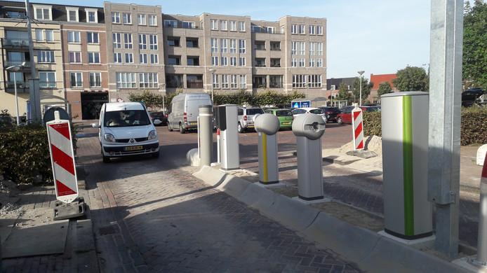 Bij parkeerplaats P1 bij winkelcentrum Vleuterweide is een betaalsysteem aangebracht.