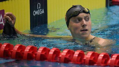 Katie Ledecky zwemt, daags na wereldrecord, tweede tijd ooit op 400 meter vrije slag