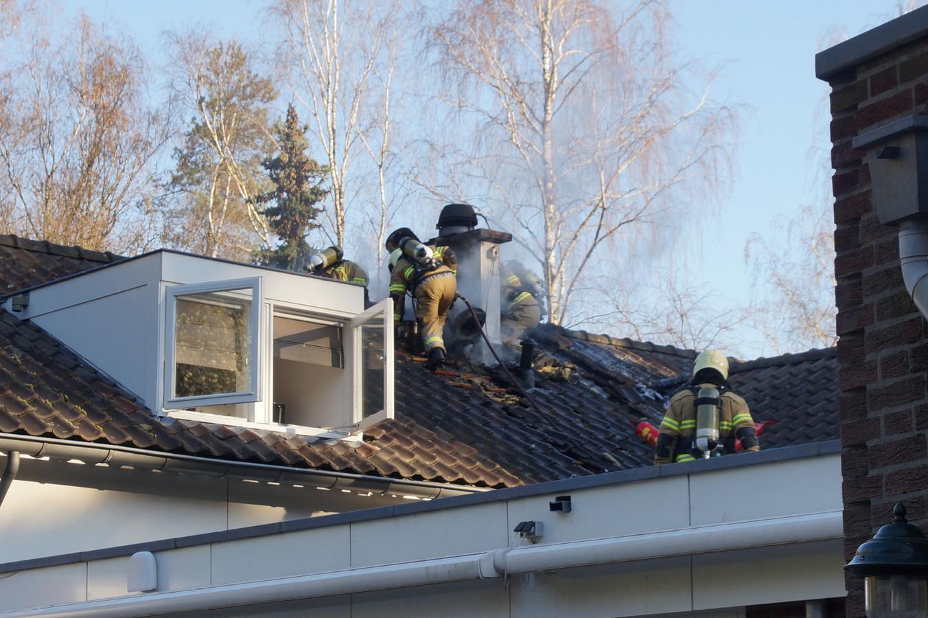 Bij restaurant Duinrand in Drunen woedde een brandje.