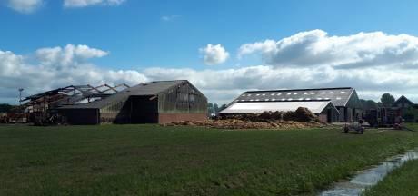 Ravage na brand op boerderij in Woudrichem