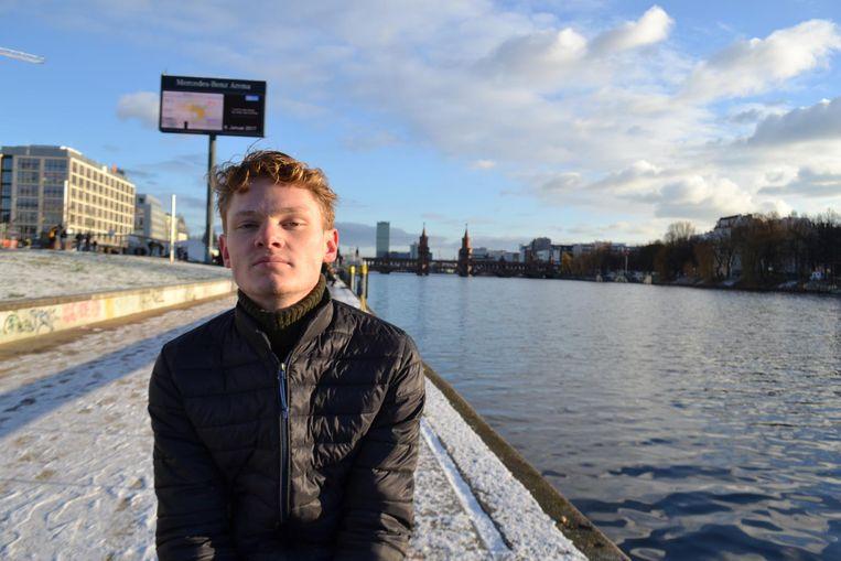 Isa Huipen, vwo-examenkandidaat op het Hyperion Lyceum in Noord. Beeld -