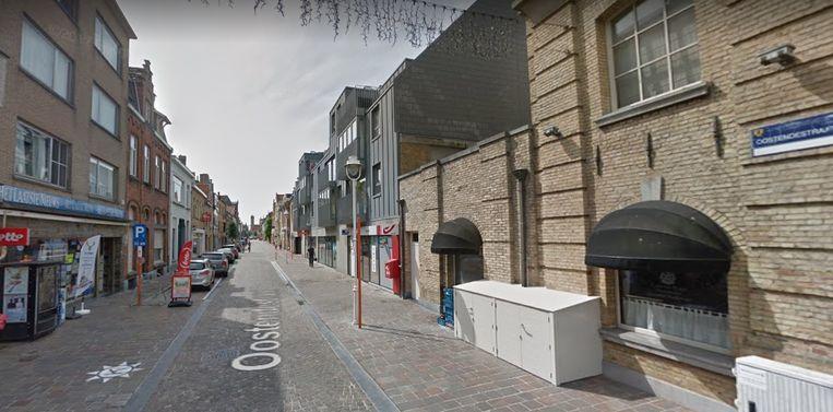De Oostendestraat in Nieuwpoort.