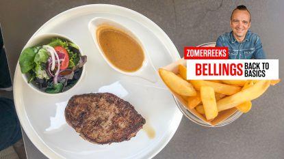 """Bellings back to basics: steak-friet met pepersaus. """"Verslavend, hier blijf ik gewoon van eten"""""""