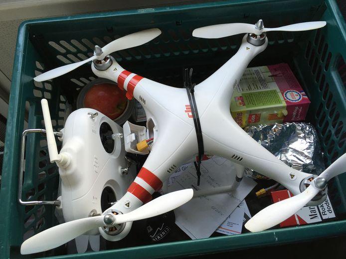 De verloren drone net voordat hij zijn laatste vlucht maakte.