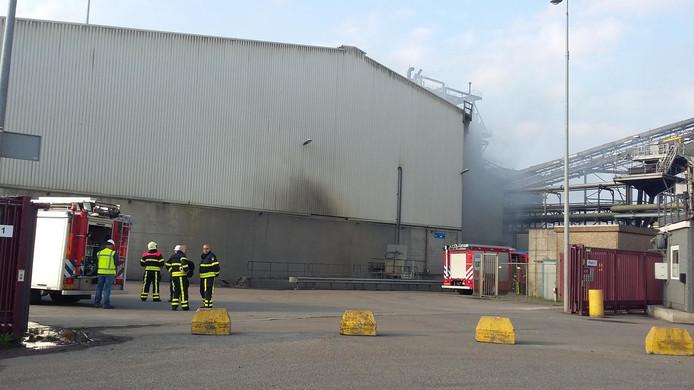 Brand bij ATM in Moerdijk.