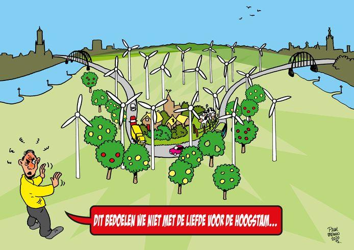 Overbetuwe moet veel windturbines voor de volle steden 'opvangen'