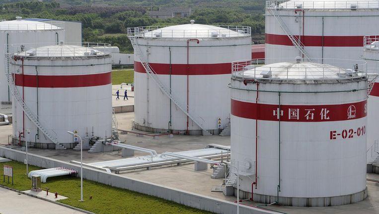 Olietanks in China. Beeld reuters