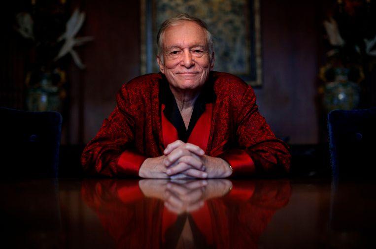Hugh Hefner, oprichter van Playboy magazine, is op 91-jarige leeftijd overleden  Beeld AP