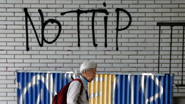 Graffiti in Brussel Beeld reuters