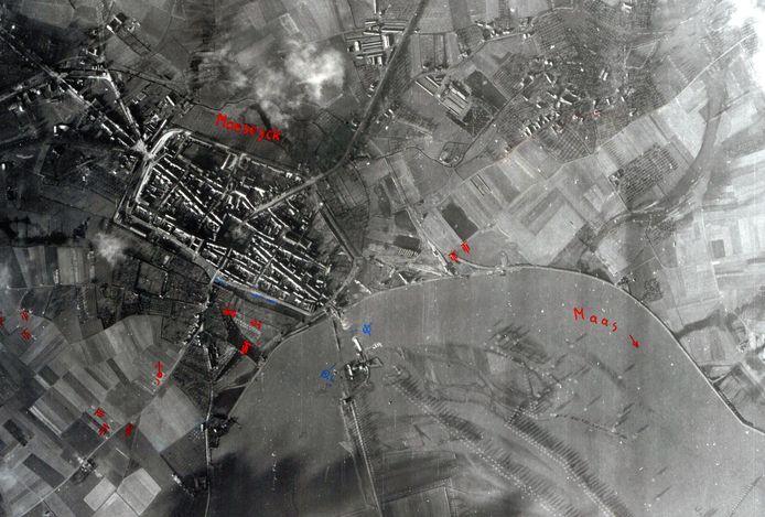 Luchtfoto's van Maaseik.