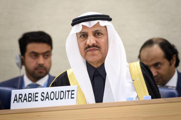 Bandar al-Aiban, het hoofd van de Saudische Mensenrechtencommissie in Genève.