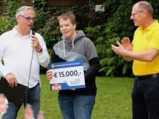 Milan (14) uit Zutphen straalt na Spieren voor Spieren Rally Gorssel