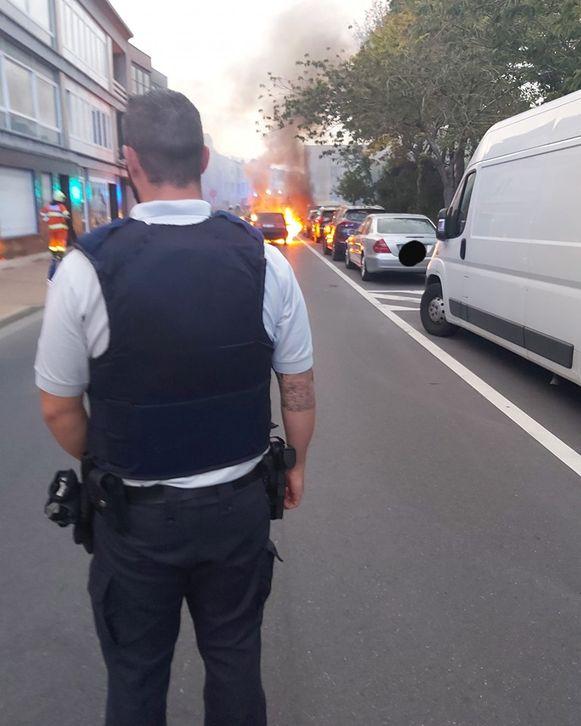 De brand ontstond in de Ontmijnersstraat.