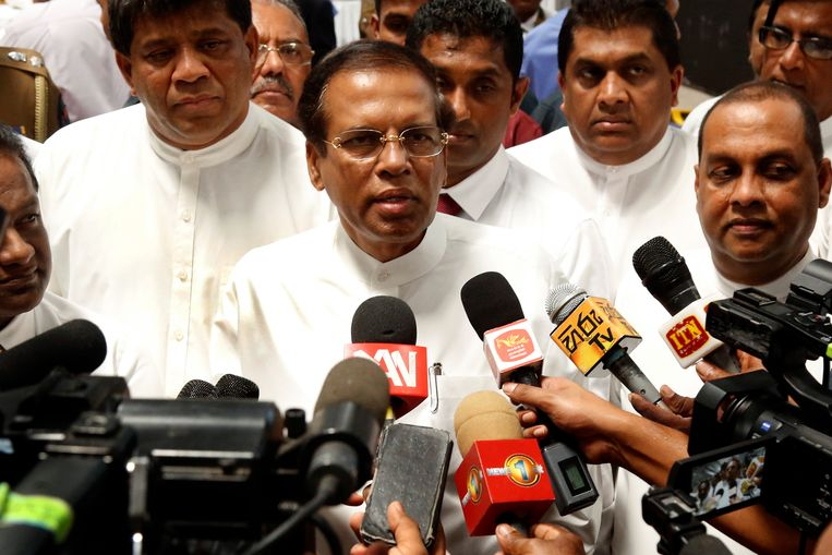 Maithripala Sirisena, de president van Sri Lanka.