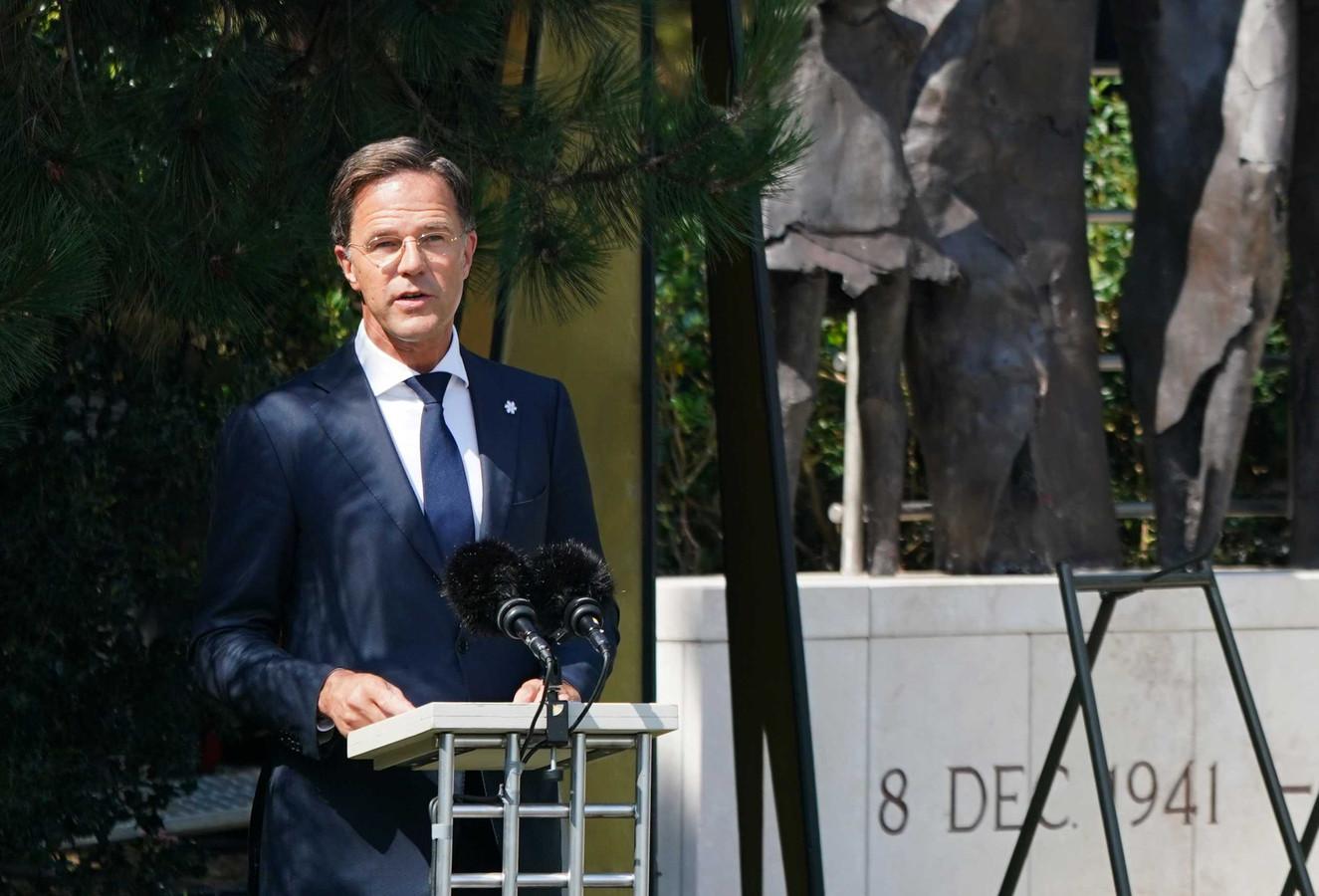 Premier Mark Rutte hield vandaag een - zeer persoonlijke - toespraak bij het Indisch Monument tijdens de nationale herdenking van het einde van de Tweede Wereldoorlog in voormalig Nederlands-Indie.