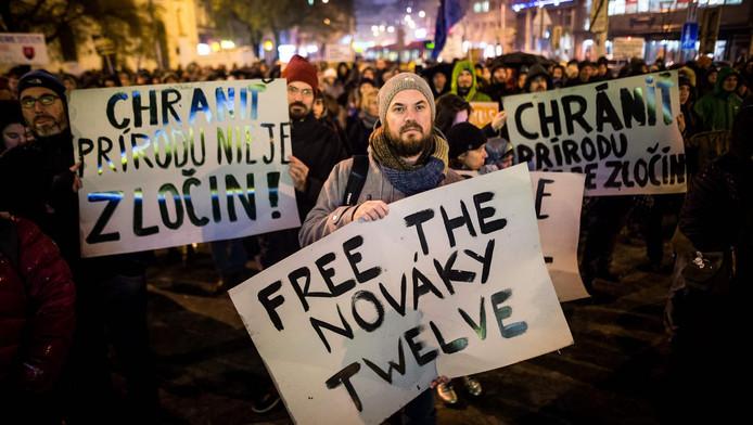 Mouvement de solidarité en Slovaquie avec les militants enfermés