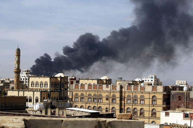 Cruciaal voor het afwenden van de humanitaire crisis in Jemen is dat de desastreuze Saudische interventie stopt en de blokkade wordt opgeheven. Beeld epa