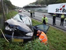 Gewonde bij ernstig ongeluk op A28 bij Zeist