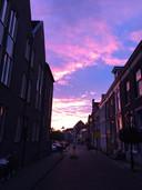 Zonsondergang in Zwolle. Foto: Allard Schelhaas