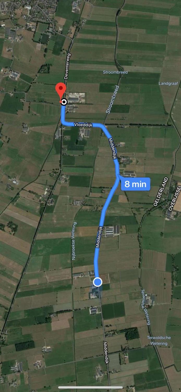 De plek waar het lichaam is gevonden is vlak bij het feest waar Loes (18) was.