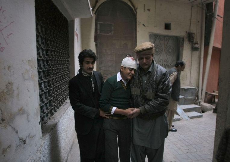 Mohammad Baqair raakte gewond tijdens de aanslag op de school in Peshawar. Zijn moeder, een lerares, kwam om het leven.
