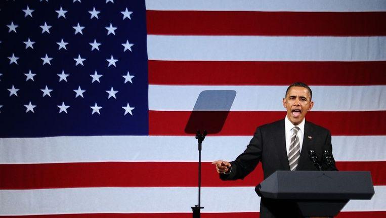De Amerikaanse president Barack Obama Beeld afp