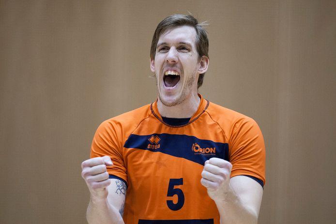 Joris Marcelis, hier nog als speler, wordt de nieuwe trainer van Orion. Foto Jan van den Brink