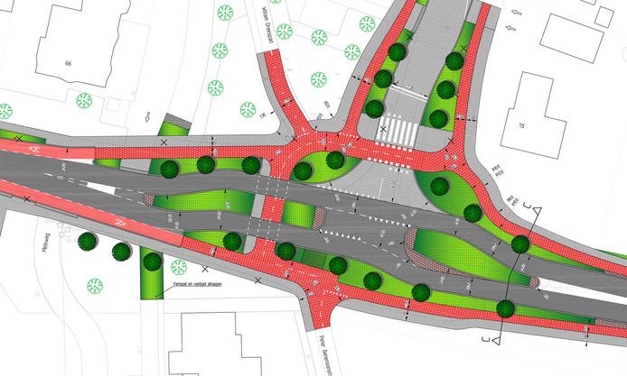 De gemeente hoopt ook het kruispunt Van Haestrechtstraat aan te kunnen passen